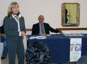 Il presidente Vitattiva Alfonso Rossi e la coordinatrice tecnica Antonella Papi