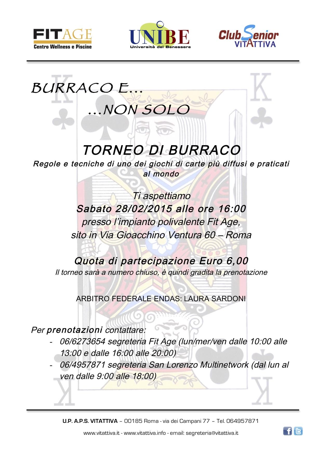 Torneo Burraco 28-02